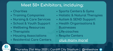 Meet lots of Mental Health & Wellbeing Companies at our expo in May!